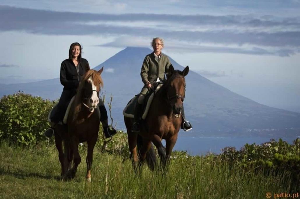 Promenades à cheval le long des zones côtière de l'île de Faial