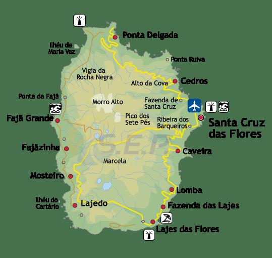 Île des Açores Flores, l'île rose à la flore la plus exubérante de l'Archipel