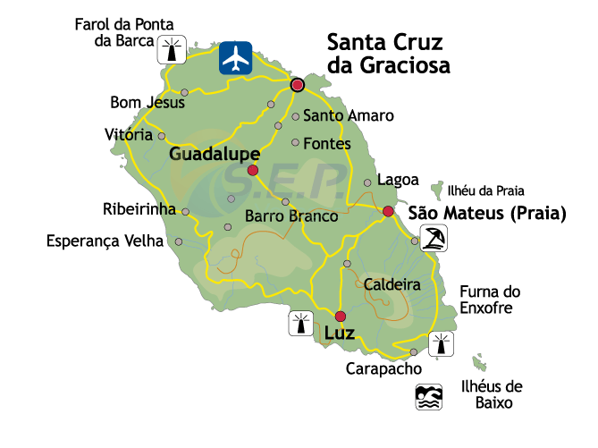 Île des Açores Graciosa, l'île blanche, déclarée Réserve de la Biosphère par l'UNESCO